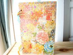 Smash Book Journal Scrapbook. Mixed Media Journal. by srbythesea