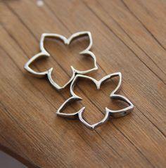 Flower connector bead sterling silver set of by SandrasCornerStore, $6.90