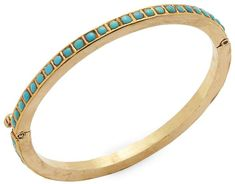 Amrapali Women's Turquoise, Silver and 18k Gold Bangle