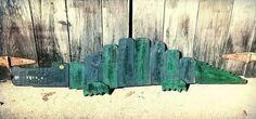 Wood alligator, rustic alligator, Louisiana decor, alligator sculpture, wildlife decor, rustic animals, swamp decor, nola, new Orleans style by PaePaesPlace on Etsy https://www.etsy.com/listing/215091385/wood-alligator-rustic-alligator