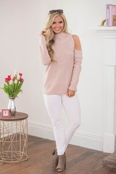 Beautiful Believer Sweater Dusty Pink  - The Pink Lily