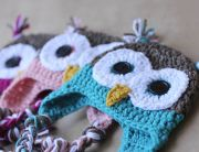 Cutties. Owl baby beanies on http://jolietricot.com/baby-love-looking-for-the-perfect-project/