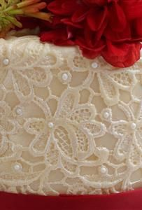 Edible lace wedding cake