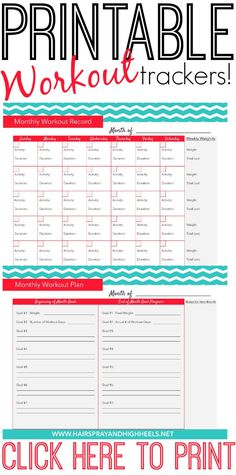A fitness calendar is a great way to stay on track with your workout goals!