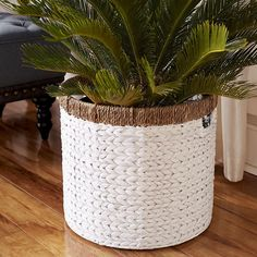 Our oversized, hand-woven basket is decor that does more. Grab the handles and fill it up with anything from laundry to toys. It works anywhere as a stylish solution to everyday messes.