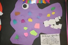 """Dinosaur Glyph- Could do when reading """"The Big circle"""""""