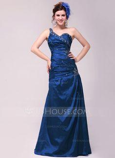 Evening Dresses - $134.99 - A-Line/Princess One-Shoulder Floor-Length Taffeta Evening Dress With Ruffle Beading (017014020) http://jjshouse.com/A-Line-Princess-One-Shoulder-Floor-Length-Taffeta-Evening-Dress-With-Ruffle-Beading-017014020-g14020?ver=xdegc7h0