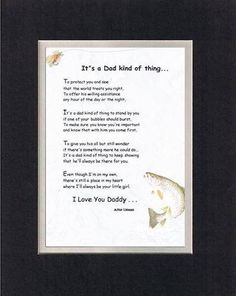 Touching and Heartfelt Poem for Fathers (From Daughter) - It's a Dad Kind of Thing Poem on 11 x 14 inches Double Beveled Matting Father Poems, Dad Poems, Fathers Day Quotes, Trending Christmas Gifts, First They Came, You Are The Father, Paper Design, Thoughtful Gifts, Gifts For Dad