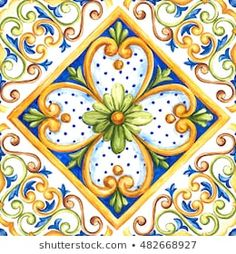 Find maiolica stock images in HD and millions of other royalty-free stock photos, illustrations and vectors in the Shutterstock collection. Tile Art, Mosaic Art, Mosaic Glass, Watercolor Wallpaper, Watercolor Art, Italian Tiles, China Painting, Tile Painting, Hand Painted Ceramics