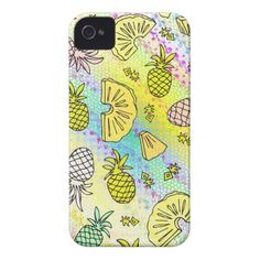 Pineapple Mix #2 - iPhone 4 Case