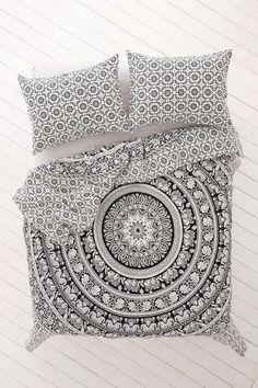 Elephant Mandala housse de couette Doona couverture indienne coton Housse de couette Housse de couette Urban Blanket Throw Queen Size Bedspread: Amazon.fr: Cuisine & Maison