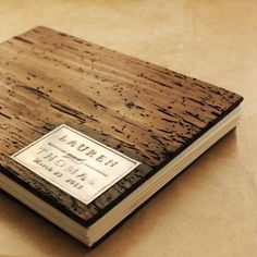 Rustic Wedding Photo Album- Coptic Binding - Truly Unique personalized with your initials or names on Etsy, $139.00