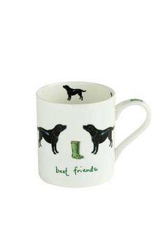 Orchid China Black Lab Mug - Homeware - Accessories - Brocklehursts
