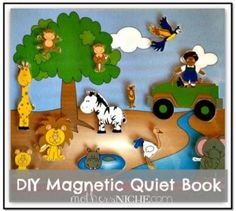 Make an ADORABLE magnetic quiet book with interchangeable scenes! So cheap and easy to make and will last forever!