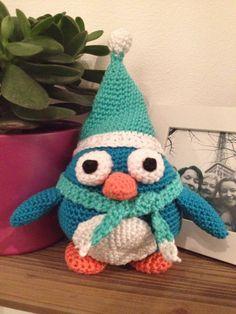 Gehaakte pinguin winter.  Patroon te vinden op : http://stephiskoestlichkeiten.blogspot.de/2014/12/x-mas-penguins.html?m=1