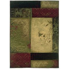 Oriental Weavers of America Bedford Green Rectangular Indoor Woven Area Rug