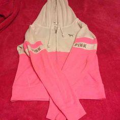 Victoria's Secret hoodie Great condition! Victoria's Secret full zip hoodie. Size Xs PINK Victoria's Secret Tops Sweatshirts & Hoodies