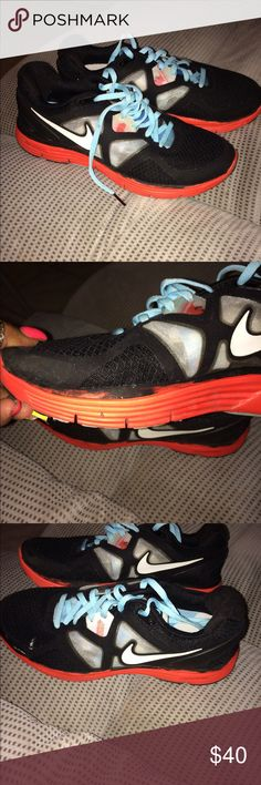 Great Nikes These Nikes were worn 3times before they got the little drops 💧 of paint on the them as shown in the photo please 👀 look at pics before buying others than that they are in mint condition Nike Shoes Athletic Shoes