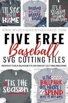 Free Baseball SVG Files for Silhouette or Cricut – My Designs In the Chaos - Fonts Baseball Crafts, Baseball Mom Shirts, Baseball Girlfriend, Baseball Cap, Softball Tshirts, Baseball Numbers, Baseball Nails, Baseball Scoreboard, Girlfriend Goals