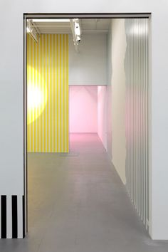 Artist: Daniel Buren Venue: Friedrich Petzel, New York Exhibition Title: Electricity Paper Vinyl… Works in Situ & Situated Works from 1968 to 2013 (DEDICATED TO MICHAEL ASHER)
