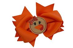 Girls Halloween and Thanksgiving 45 Inch Grosgrain Hair Bow Orange with Turkey >>> Continue to the product at the image link. (This is an affiliate link) Grosgrain, Hair Bows, Hair Clips, Hair Accessories, Halloween, Girls, Image Link, Turkey, Thanksgiving