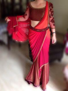 @Tarun_Tahiliani's current collection is a fiesta of fuchsia sarees and kurtas.