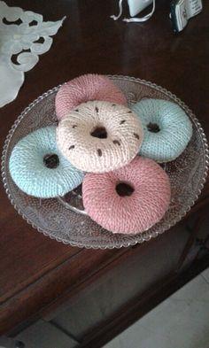 Donuts fatti con i ferri circolari