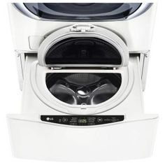 LG Electronics 27 in. 1.0 cu. ft. SideKick Pedestal Washer in White WD100CW at The Home Depot - Mobile