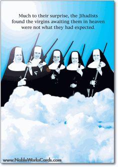 Virgins In Heaven Card