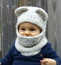 The Berkley Balaclava pattern by Jenny Nicole:knit pattern, convert to tunisian in the round Knitted I know that this is for a child but I would still wear it. Ravelry: The Berkley Balaclava by Jenny Nicole All of my patterns are designed to be simple to Knitting For Kids, Baby Knitting Patterns, Loom Knitting, Baby Patterns, Crochet Patterns, Knitting Toys, Baby Hats Knitting, Yarn Projects, Knitting Projects