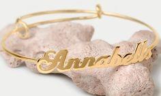 Groupon - Adjustable Personalized Name Bangle. Groupon deal price: $5