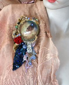 100 year dreambold delicate brooch mixed media by FleurBonheur