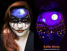Dripping with Halloween - Black Light Makeup by *KatieAlves on deviantART