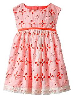 Something like this for the girls for wedding?Contrast eyelet dress | Gap