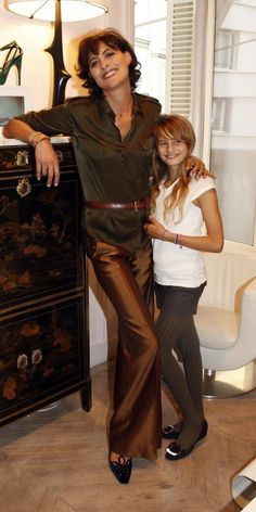 Ines and daughter. The epitome of French timeless classic style.