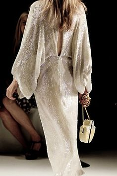 ninagarcia: NYFW - SPRING 2013 - DVF (photos by... - musings in femininity.sequins are still here