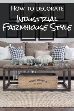 Rustic Farmhouse Living Room Decor What every living room should have? Rustic Farmhouse Living Room Decor What Colour is good for living room? Fall Living Room, Rugs In Living Room, Living Room Designs, Dining Rooms, Cozy Living, How To Decorate Living Room, Living Room With Beige Couch, Neutral Living Rooms, Cottage Living Rooms
