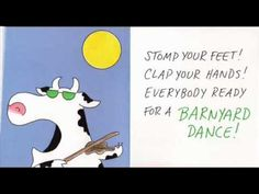 Barnyard Dance by Sandra Boynton. How can you resist? Preschool Music, Teaching Music, Preschool Books, Barnyard Dance, Brain Break Videos, Farm Unit, School Videos, Brain Breaks, Elementary Music