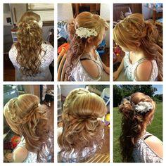 Half up, half down wedding hair.