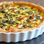 Spinattærte med laks - Maria Silje | Mad blog Greek Recipes, Quiche, Bacon, Food And Drink, Breakfast, Health, God, Recipes, Gratin