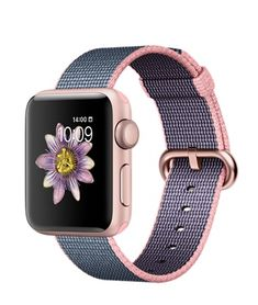 Shop Apple Watch Series 2 Rose Gold Aluminum Case Light Pink/Midnight Blue Woven Nylon Band Rose Gold Aluminum at Best Buy. Find low everyday prices and buy online for delivery or in-store pick-up. Apple Watch Online, Buy Apple Watch, Rose Gold Apple Watch, Apple Watch Series 2, Apple Watch Bands, Apple Tv, Iphone Watch, Apple Watch Accessories, Rose Gold Watches