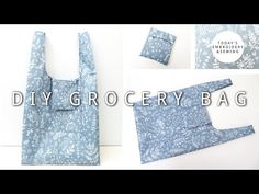 Bag Pattern Free, Bag Patterns To Sew, Folding Shopping Bags, Shoping Bag, Reusable Shopping Bags, Diy Reusable Bags, Diy Tote Bag, Couture, Fancy