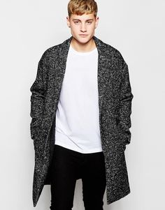 Pull&Bear Wool Overcoat In Grey. In love with this.