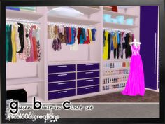 Giesen Built-in closet set: Download Giesen Built-in closet set includes 11 items: 2 dressers (dresser) wardrobe (decor) doorway (doors) 2 accessory sets (decor) woman and men 2 mannequins (decor) 3...