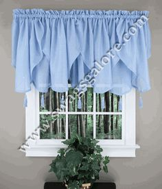 Reverie Ascot valance is a popular textured snow voile sheer. #Ascot #Tassels #Valances