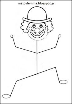 Summer Crafts For Kids, Art For Kids, Theme Carnaval, Clown Crafts, Carnival Decorations, Arts And Crafts, Diy Crafts, Mardi Gras, Coloring Pages
