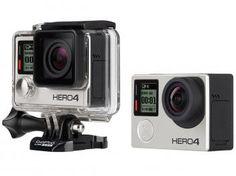 """Câmera Digital GoPro Hero 4 12MP Aquática - Visor 1,5"""" Touch Wi-Fi Bluetooth"""