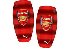 7f437bf9 At SoccerPro now. Puma Arsenal Stripe Shinguards - High Risk Red Arsenal  Soccer, Soccer