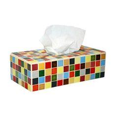 Boite à mouchoirs en mosaique Tissue Holders, Tissue Paper, Facial Tissue, Mosaic Tiles, Place, Scrap, Challenge, Decorations, Decorated Boxes