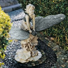 A Fairy's Wondrous Butterfly Ride Statue